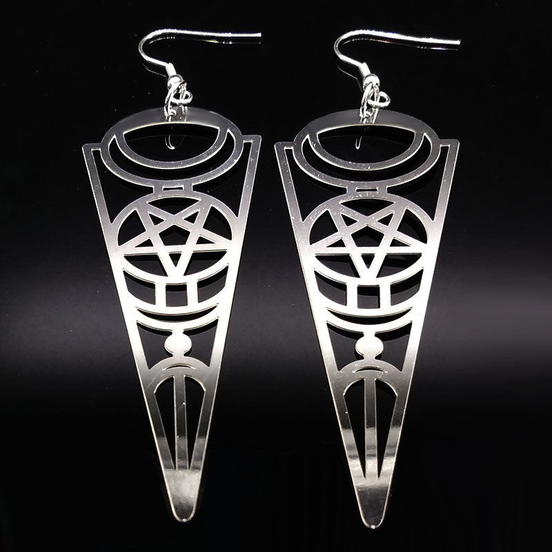Pentagram Dangle Earrings