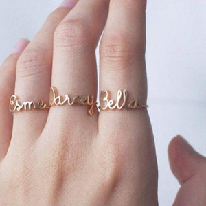 Custom Laser Cut Name Ring