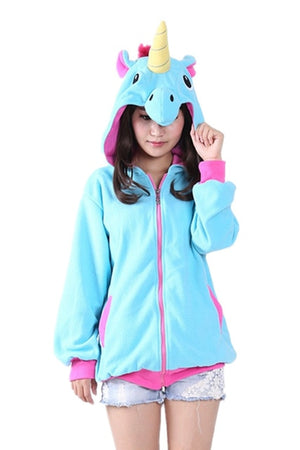 Kawaii Animal Hoodies (8 Designs) Unicorn Panda Narwhal Shark Raccoon Owl