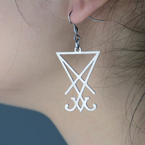 Lucifer Sigil Earrings