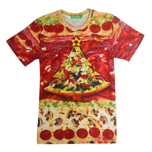 Pizza Christmas Tree  All Over Print T-Shirt