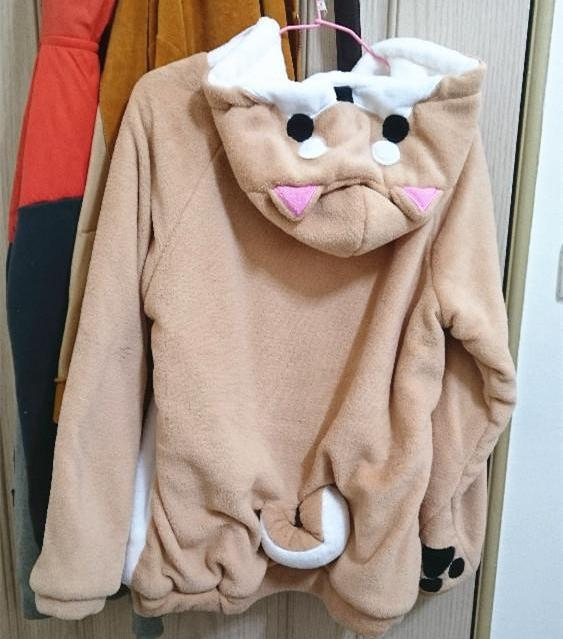 Corgi Doge Pull Over Hoodie With Ears & Tail