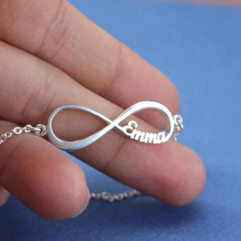 Custom Laser Cut Infinite Love Bracelet Up To Four Names