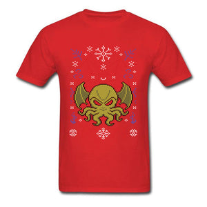 Merry Cthulhu Ugly Sweater T-Shirt (10 Colors)
