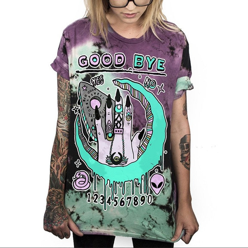Good Bye Spiral Tie Dyed T-Shirt