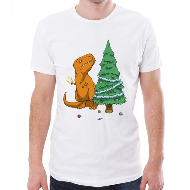 Sad T-Rex Christmas Tree T-Shirt