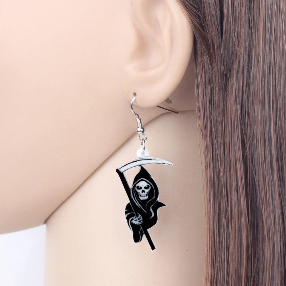 Grim Reaper Earrings