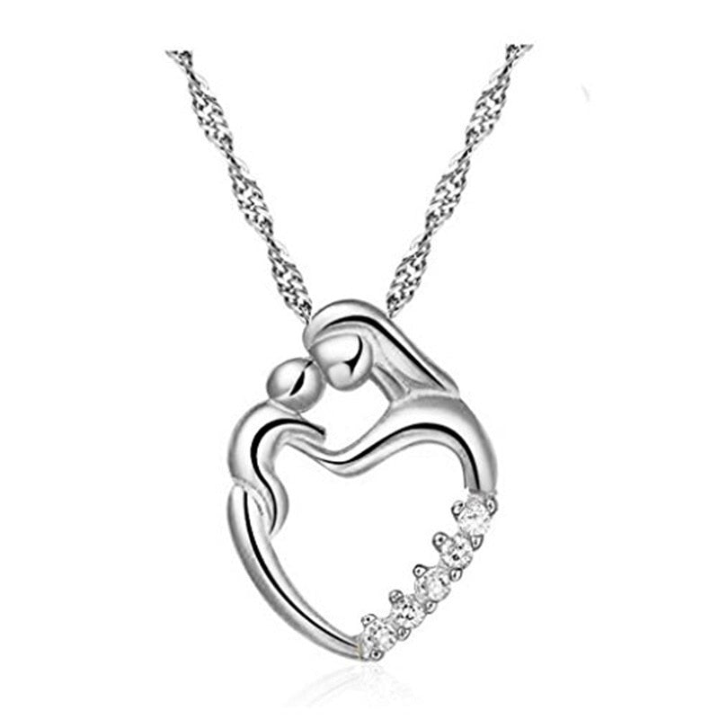 Mother & Child Nursing Mother's Day Pendant Necklace W/ FREE Ring