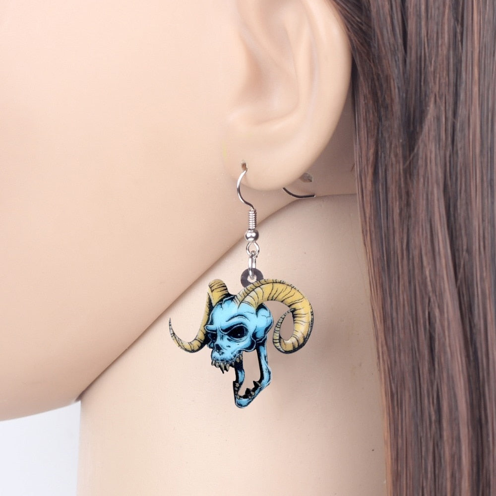 Demon Skull Earrings