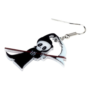 Chibi Grim Reaper Earrings