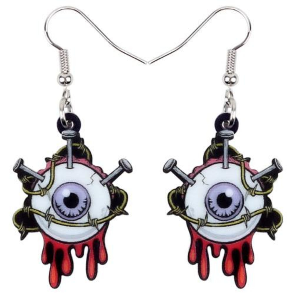 Tortured Eye Ball Earrings