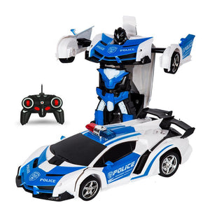 Remote Control Robot One Button Transformation Car Toy (5 Colors)