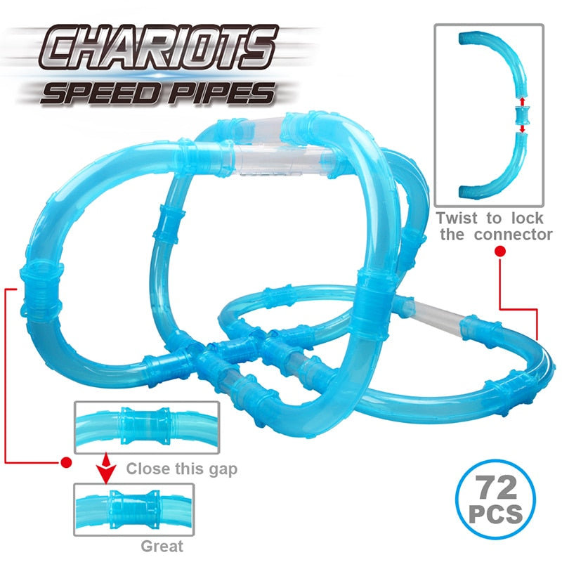 Chariots Speed Pipes Anti Gravity RC Cars (27 or 72 Pieces)