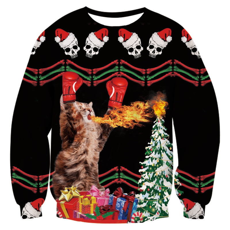 KO Christmas Tree Kitty All Over Print Sweater