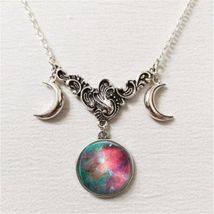 FULL MOON NECKLACE Full Moon Pendant Lunar Necklace Planet Jewelry Astronomy