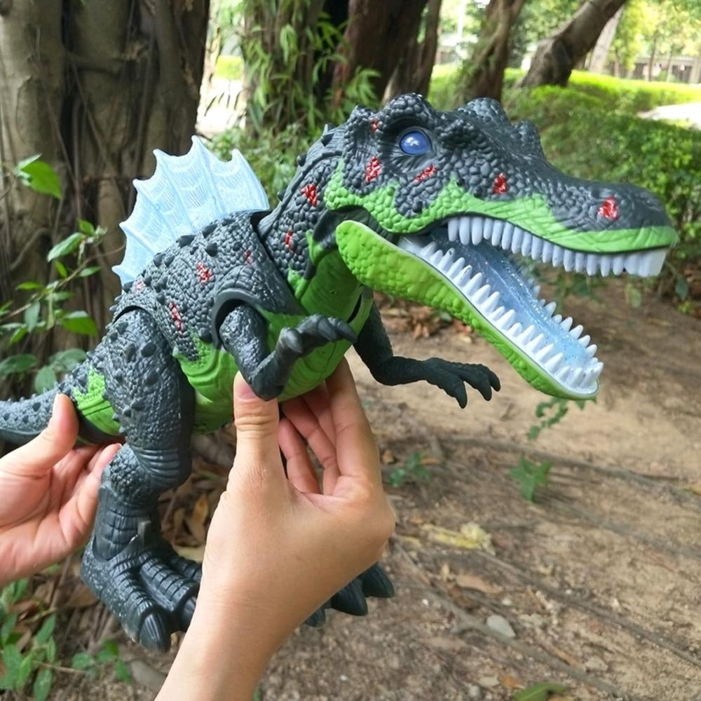 Electronic LED Walking Dinosaur Dimetrodon Spinosaurus Lays Eggs (XL Blue or Green)