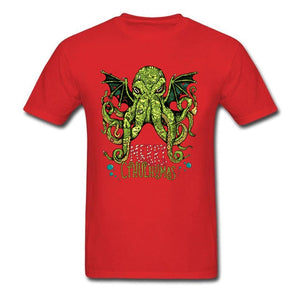 Merry Cthulhumas Ugly Sweater T-Shirt (10 Colors)