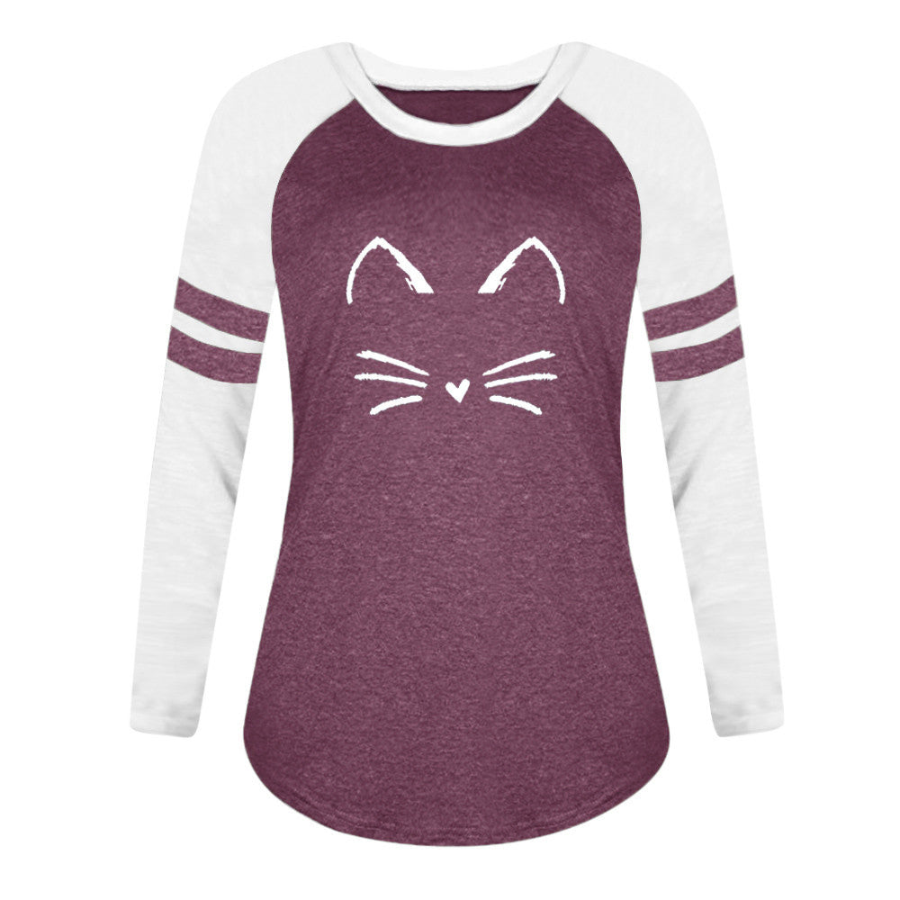 Happy Kitty Long Sleeve Shirt (4 Colors)