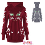 Happy Kitty Hoodie With Ears (2 Colors)