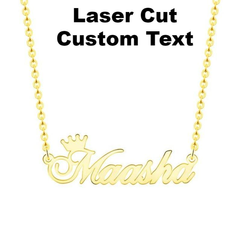 Custom Laser Cut Royal Crown Necklace