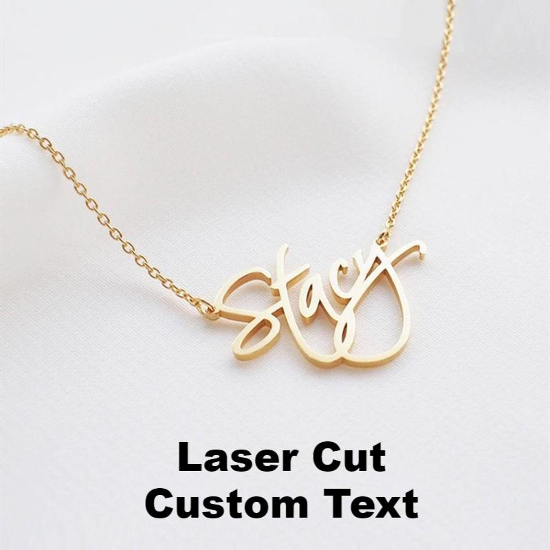 Custom Laser Cut Name Necklace (Variant 2)