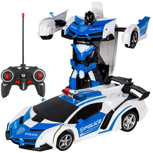 Gesture Sensing Remote Control Robot One Button Transformation Car Toy (15 Styles) New Colors