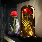 Enchanted Rose Skeleton LED Glass Display (2 Designs)