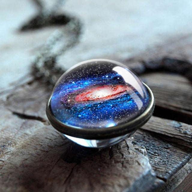 Space Sphere Pendant Necklace (20 Designs)