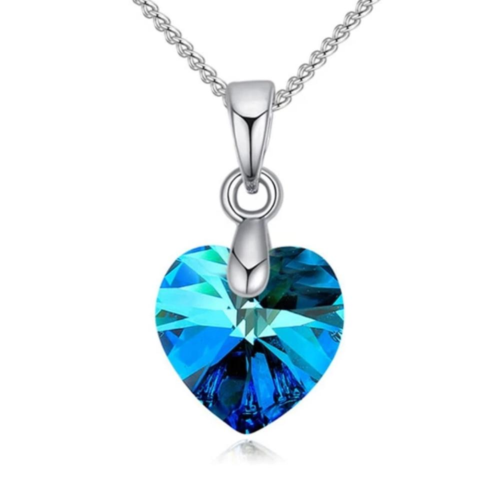 Mini Swarovski® Crystal Heart Pendant Necklace (16 Styles)