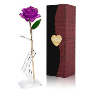 Preserved 24k Gold Long Stem Immortal Rose (5 colors)