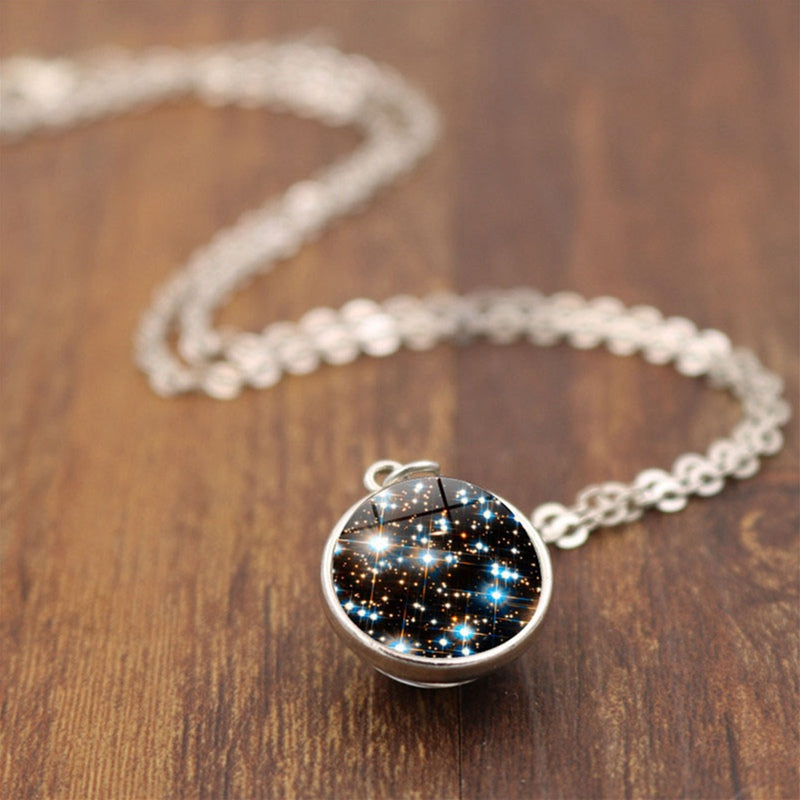 Galaxy Space Sphere Pendant Necklace