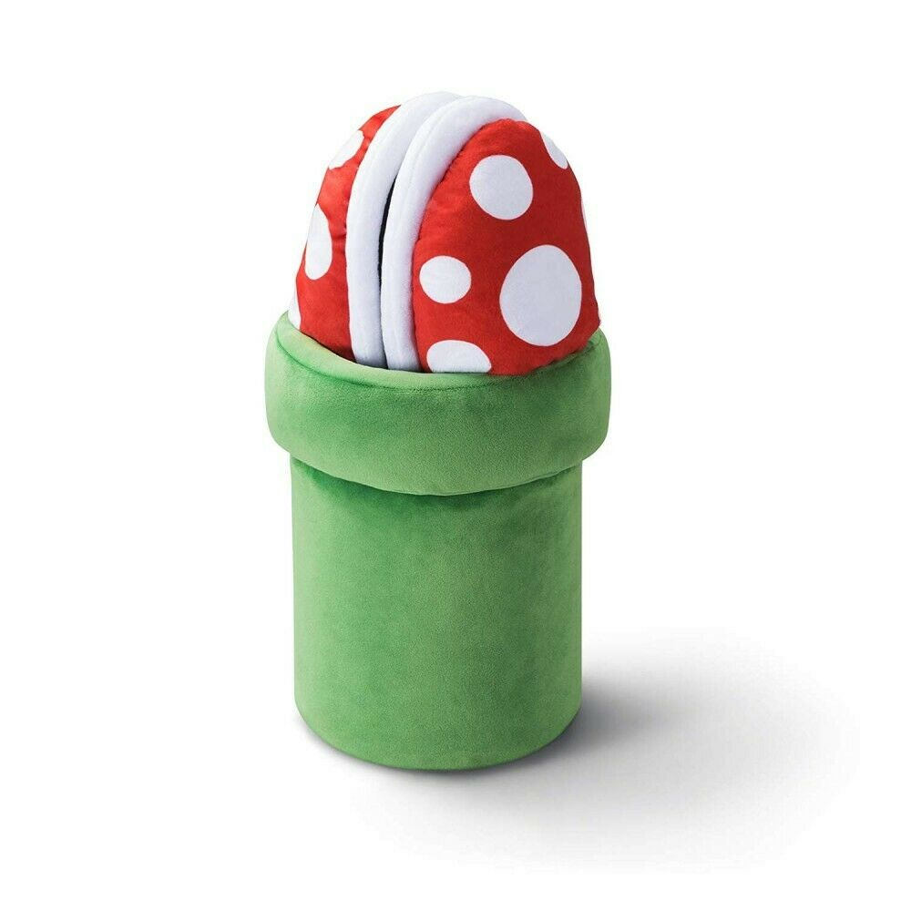 Piranha Plant Slippers With Storage Pipe