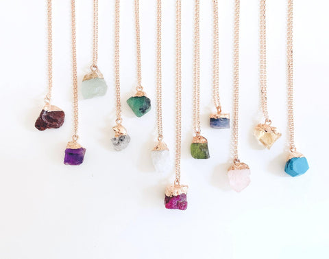 Colorful stone necklaces
