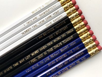 Pencils with Office Quotes