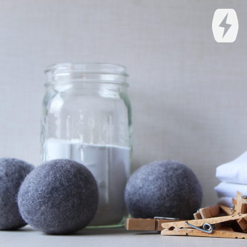 Laundry detergent and dryer balls