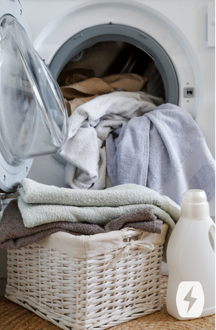 Use bleach to deeply clean your and disinfect your washing machine