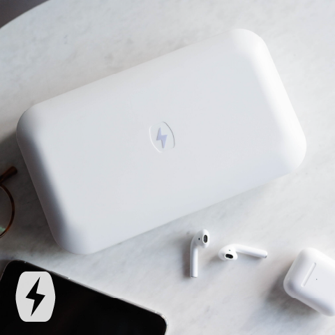 PhoneSoap devices safely contain UV-C light while sanitizing things like phones and earphones