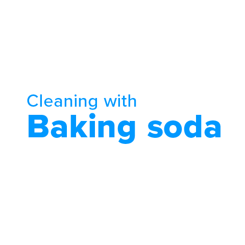 Cleaning with baking soda