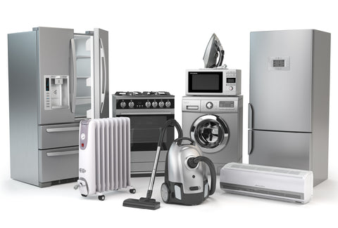 Various stainless-steel appliances like refrigerators, ovens, and dish washers.