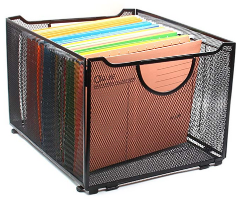 Filing cabinet and folders for back to school