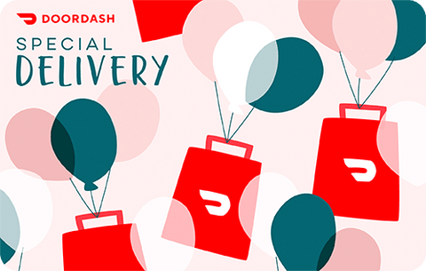 DoorDash gift card, image from DoorDash.com