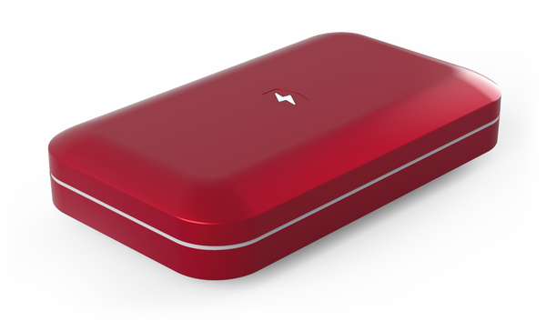 For a limited time, the PhoneSoap 3 is available in a new holiday color, Cranberry. Limited quantity available.