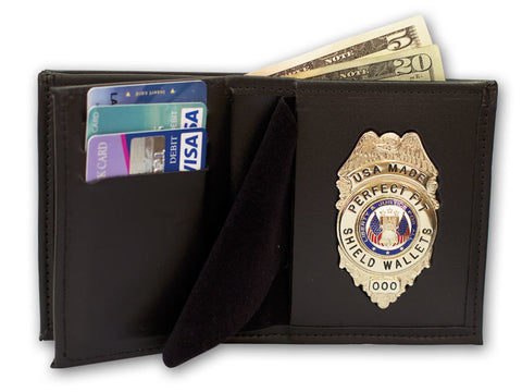 "Perfect Fit Recessed Neck Badge and ID Holder with 30"" Chain (MDSPD)"