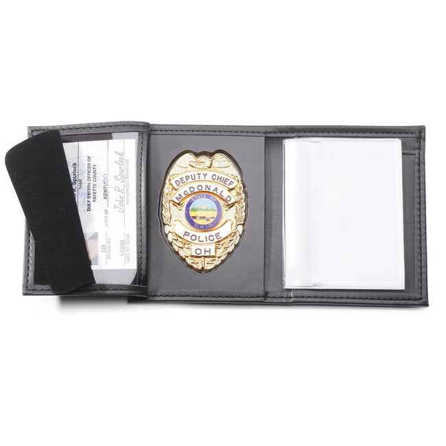 Perfect Fit Recessed Badge Wallet with Credit Card Slots and ID Window (HPD)