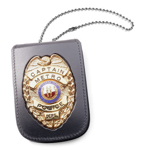 "Perfect Fit Recessed Neck Badge and ID Holder with 30"" Chain (HPD)"