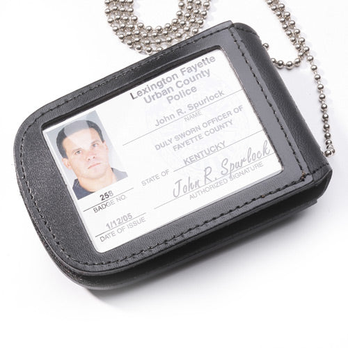 "Perfect Fit Recessed Neck Badge and ID Holder with 30"" Chain (MPD)"