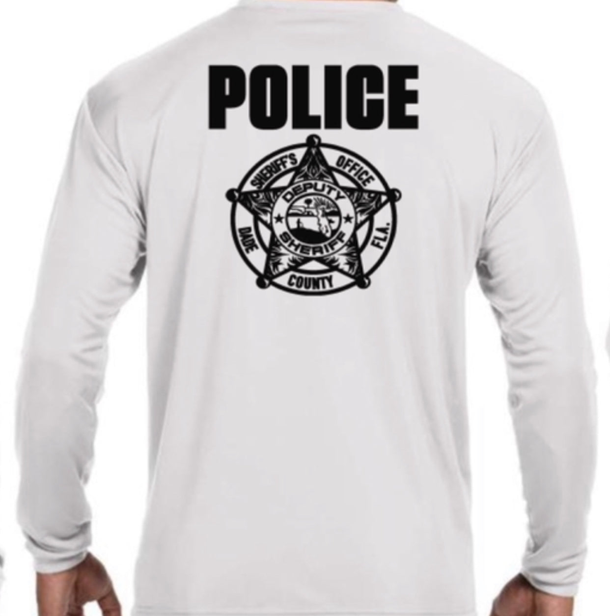 LEO Miami Dade Police Dept. Police Performance Long Sleeve (White)