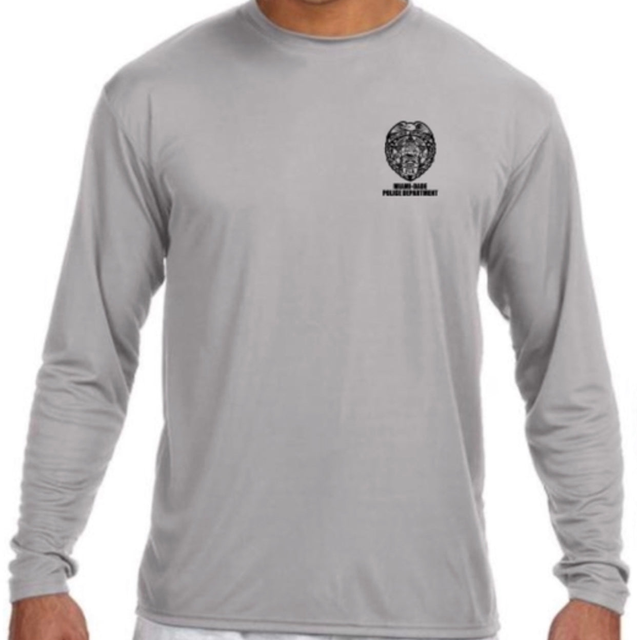 LEO Miami Dade Police Dept. Police Performance Long Sleeve (Gray)