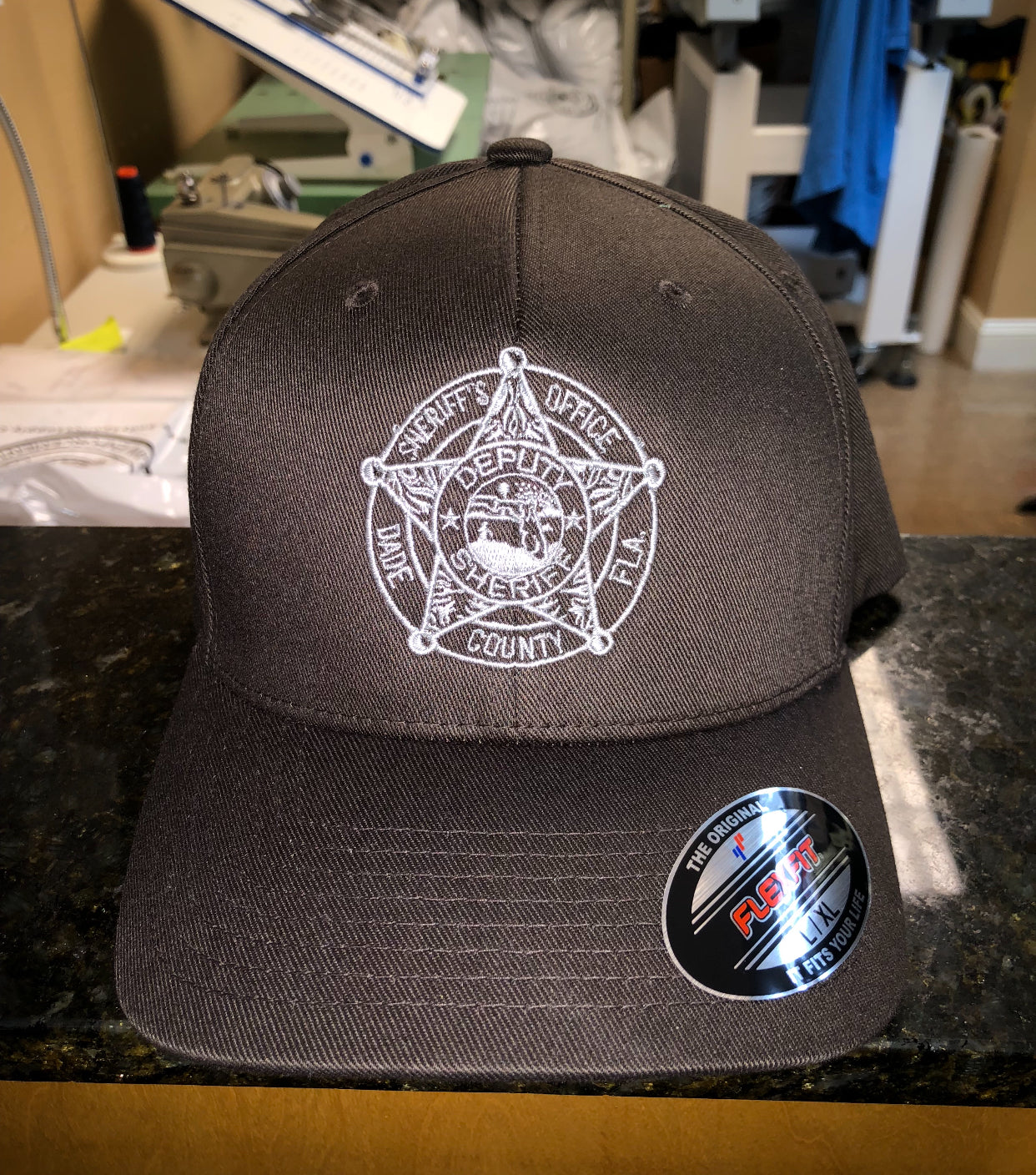 LEO Miami Dade Police Fitted Hat with Sheriff badge (Brown Hat)