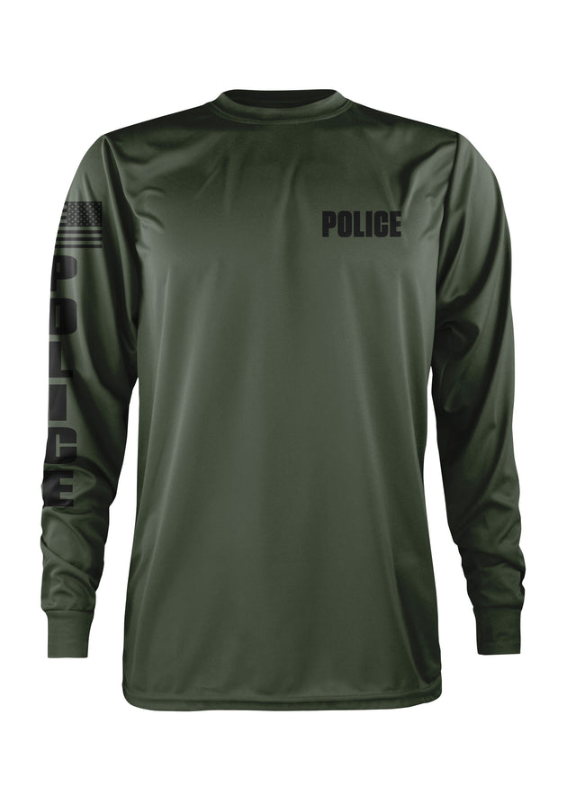 LEO Police Performance Long Sleeve (OD GREEN)